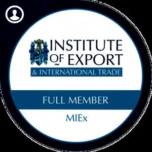 Institute of Export & International Trade Full Member Badge